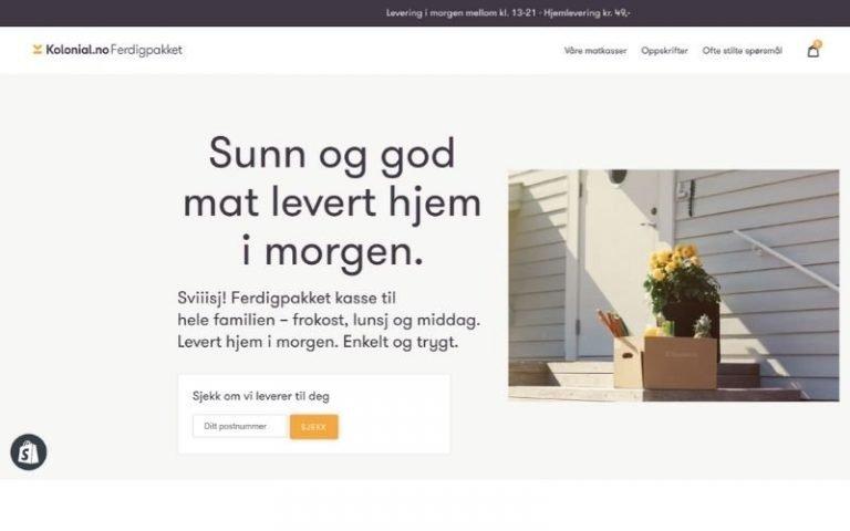 Kolonial nettbutikk laget med Shopify