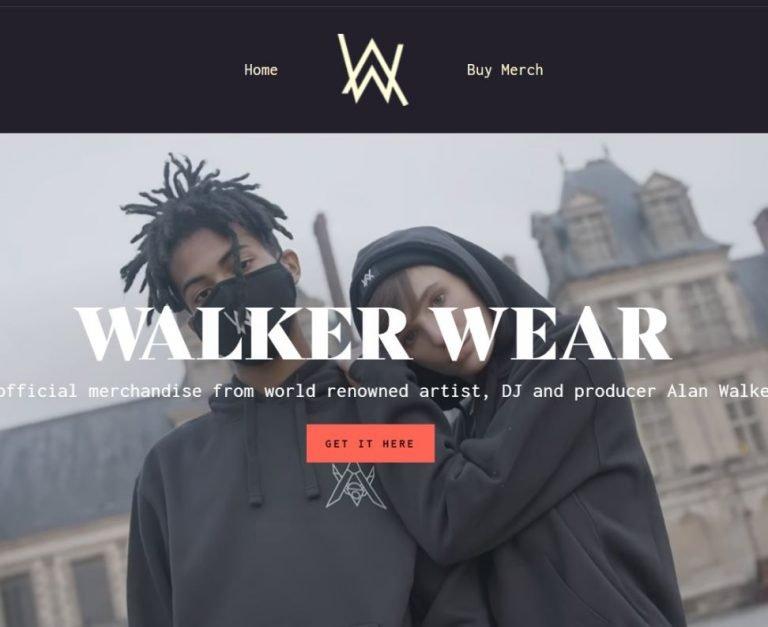 Alan Walker nettbutikk laget i Shopify